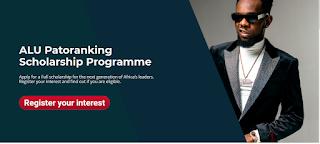 ALU Patoranking Scholarship Programme 2020 | 100% Paid Tuition