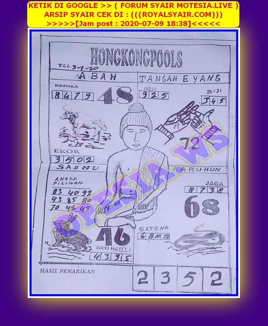 Kode syair Hongkong Kamis 9 Juli 2020 49