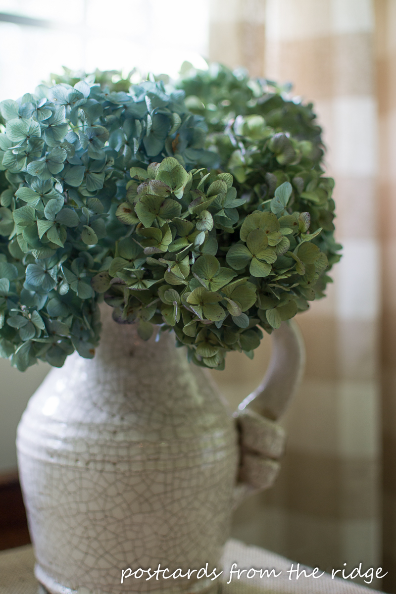 I never knew it was so easy to dry hydrangeas. Saving this for future reference!