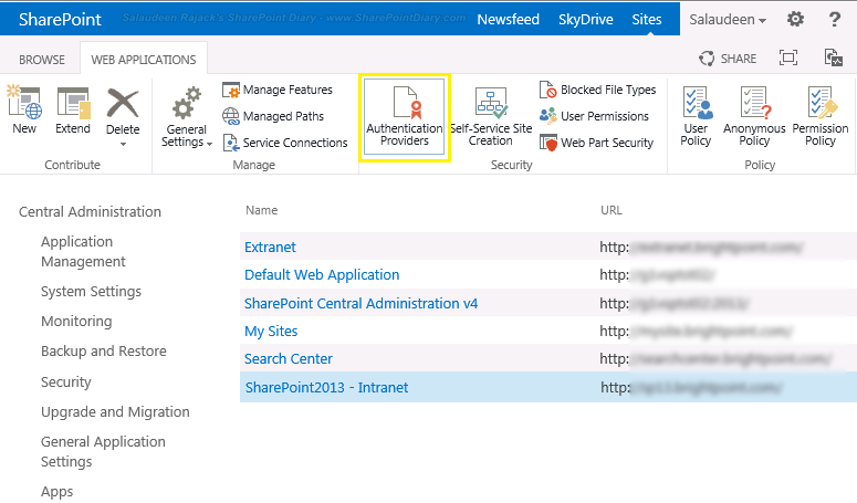 anonymous access SharePoint 2013
