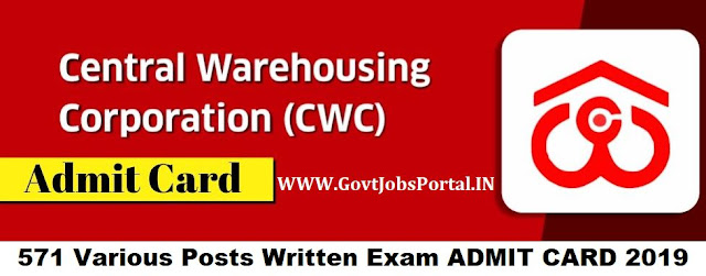 Central Warehousing Corporation Recruitment 2019