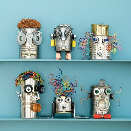 Recycled Craft: Can-Do Robots