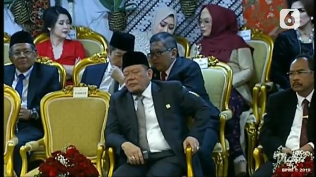 La Nyalla Tidur di Pelantikan Jokowi, Netizen: Gimana Mau Ngerangkap PSSI