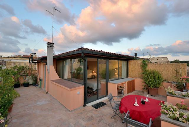 Airbnb Rome - Terrasse sur le Colisée