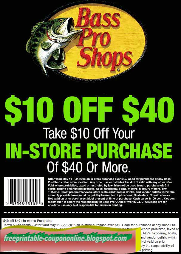 View Bass Pro Shops Deals How to Use Coupons and Codes How to use Bass Pro Shops coupons and promo codes: Proceed through checkout until you reach the Payment Options section halfway down the page. Click on