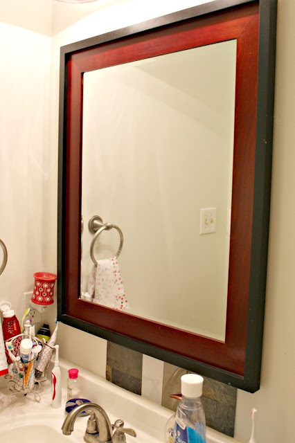 Small Modern Bathroom Inspiration-before mirror