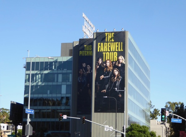 Giant Pitch Perfect 3 movie billboard