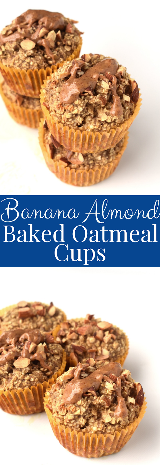 Banana Almond Baked Oatmeal Cups recipe