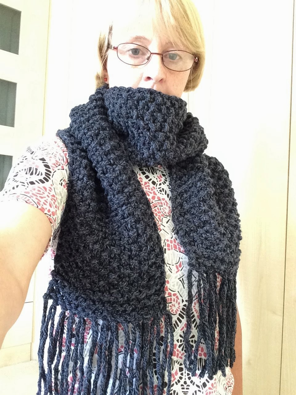 bitstobuy: Free knitting pattern for easy to knit chunky scarf