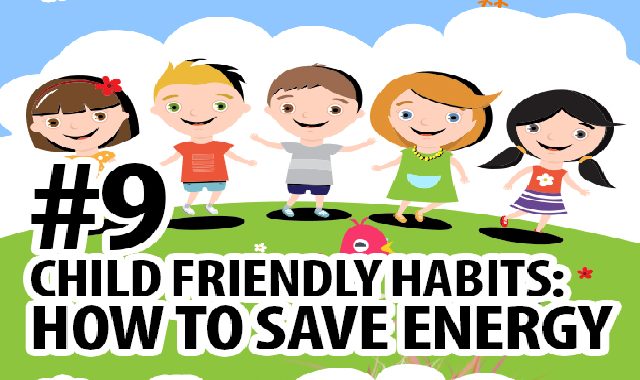 How to Save Energy for Kids #infographic