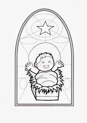 Parroquia La Inmaculada: Lminas para colorear: Nio Jess