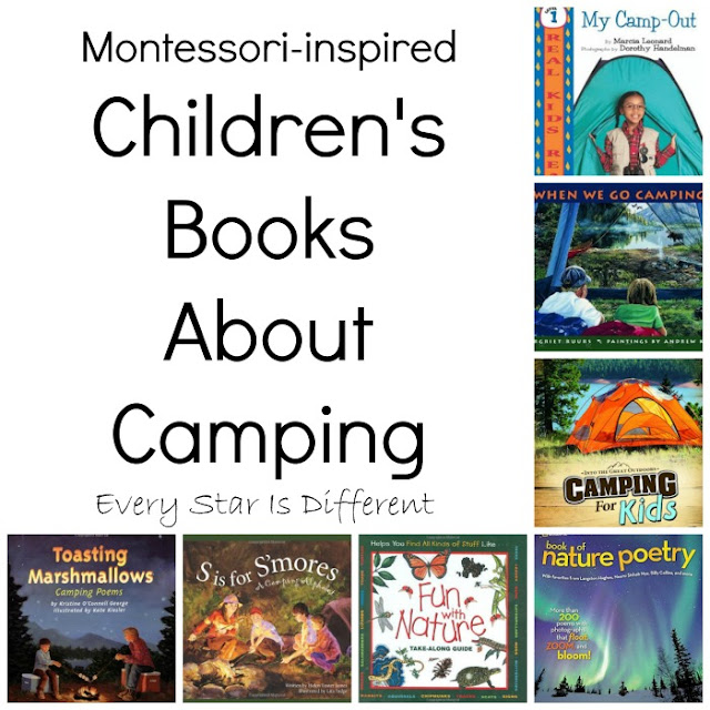 Montessori-inspired children's books about camping