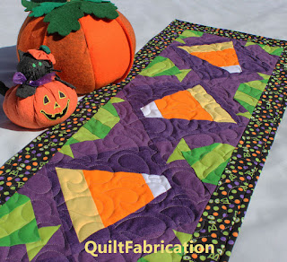 HALLOWEEN TABLE RUNNER-CANDY CORN-CANDY BLOCK-HALLOWEEN DECORATION