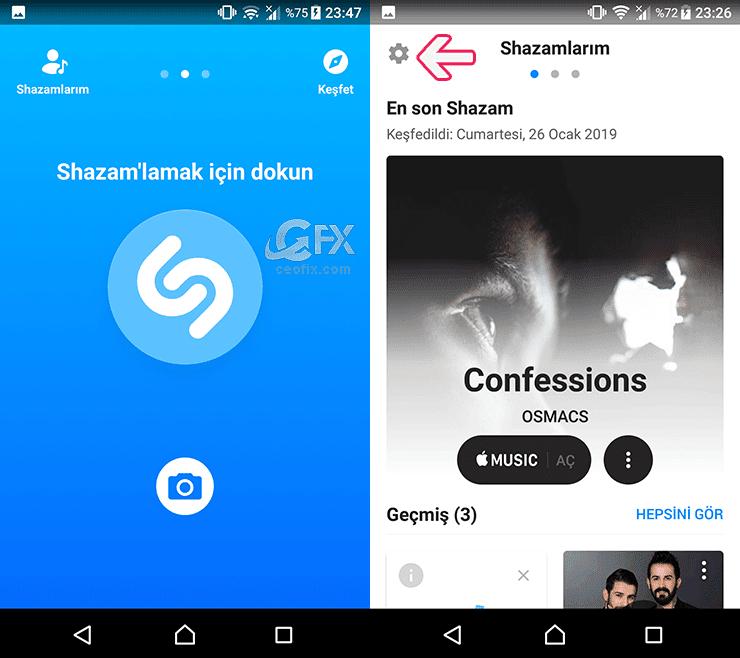 Shazam Açık bildirimi Nasıl Kapatılır? www.ceofix.com
