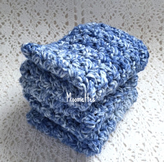 Handmade Cotton Dish Cloths Blue Coastal Style