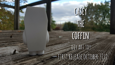 Casey the Coffin Do It Yourself Resin Figure by Random Skull Productions