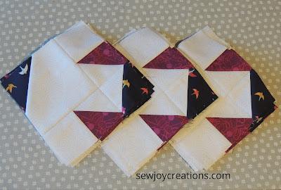 corner units Dazzle Quilt Sew Joy Creations