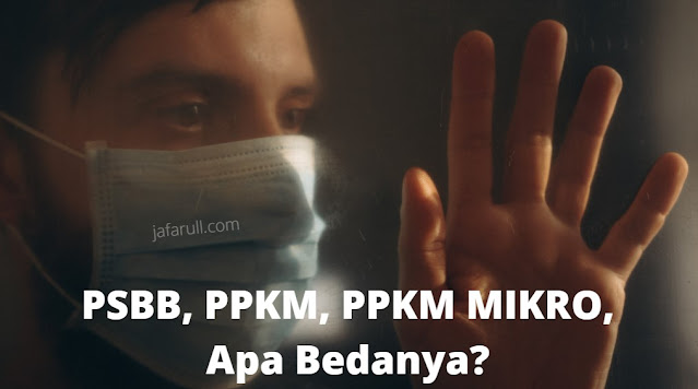 PSBB dan PPKM, hingga PPKM berbasis Mikro, Ternyata Ini maksdunya kenapa istilahnya berganti-ganti