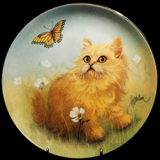 Vintage Curious Kittens Porcelain Plate, The Hamilton Collection