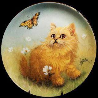 Vintage Curious Kittens Porcelain Plate, The Hamilton Collection