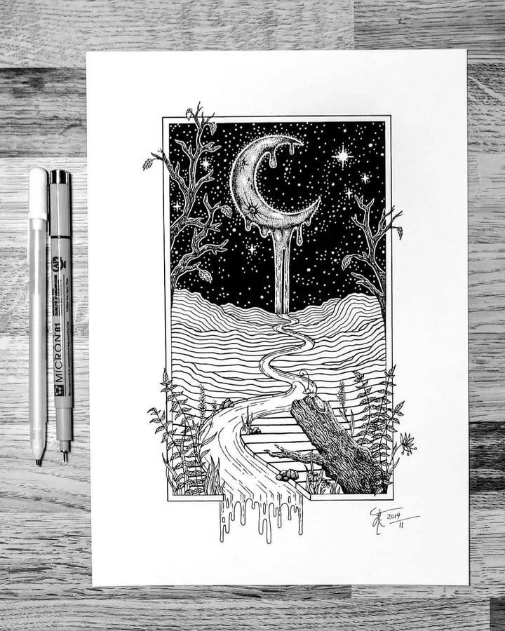 11-Waterfall-moon-Zakrii-www-designstack-co