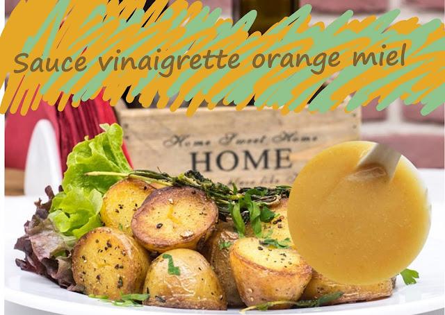 sauce à l'orange et au miel pour salades estivales