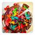 Brownies Rainbow Cheesecake