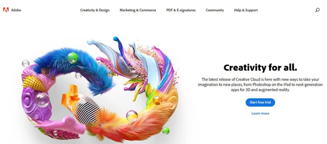 adobe creative cloud home interface