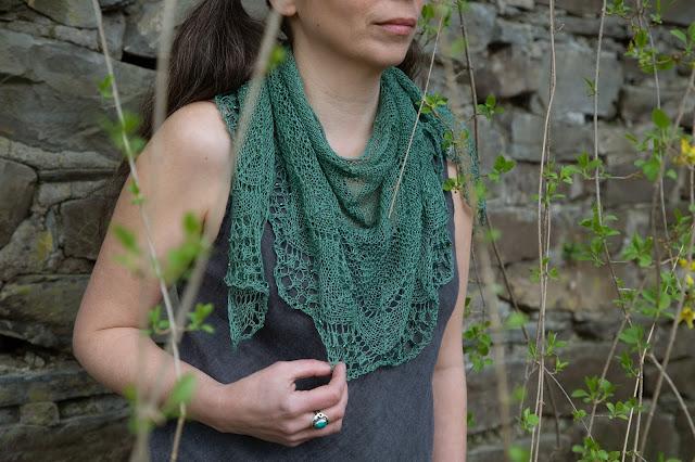 Woman wearing a lace cotton shawl