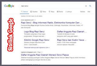 Sitelink Google Rapi Serui