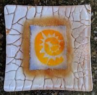 Spiral sun glass dish - front