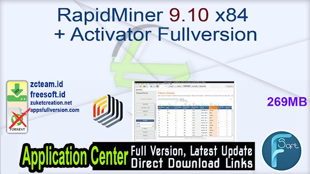 RapidMiner 9.10 x86 + Activator Fullversion