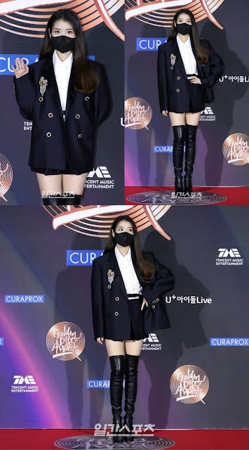 Wearing No Dress, IU Outfit Drew Attention on the Red Carpet at the 2021 Golden Disc Awards