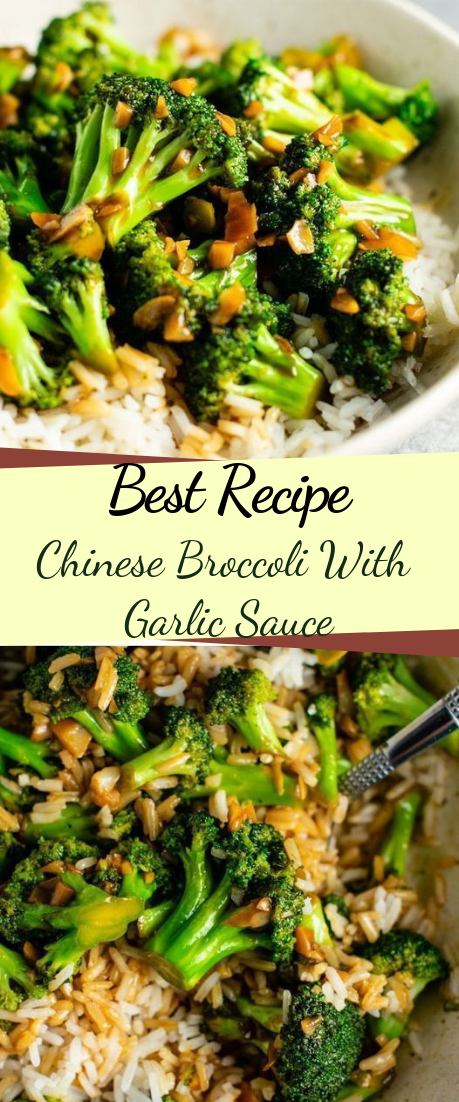 Chinese Broccoli With Garlic Sauce #vegetarian