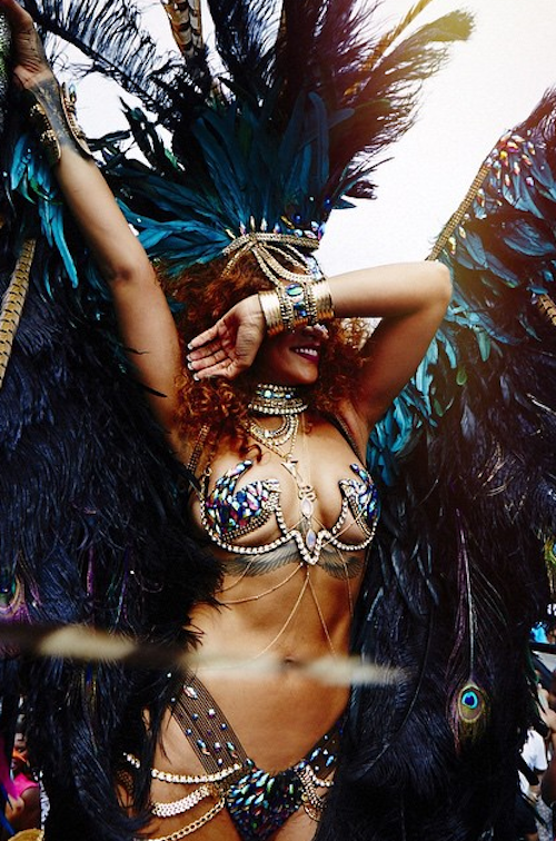 Rihanna in Bitch Better Have My Money Carnival
