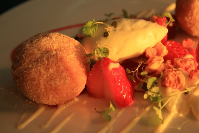 Strawberry Doughnuts luxury dessert