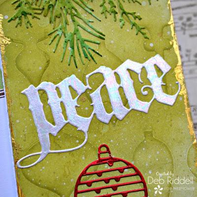 Peace Slimline Christmas Card Detail