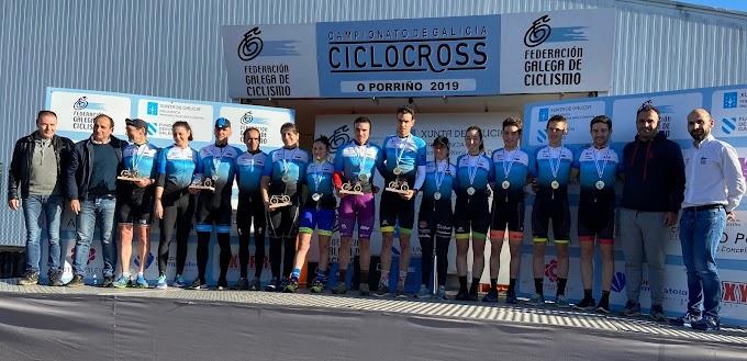 Saúl López y Carla Fernández ganan el Campeonato de Galicia de Ciclocross en O Porriño