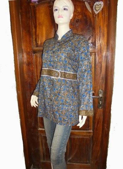 model baju batik untuk wanita gemuk