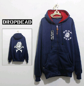 Jaket Fleece Hoodie - Dropdead DROP011