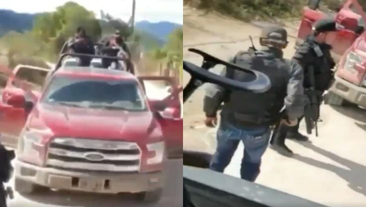 Con el tiro arriba sicarios del CDS se graba escuchando corridos trepados en trocas y demostrando su poderío en Durango