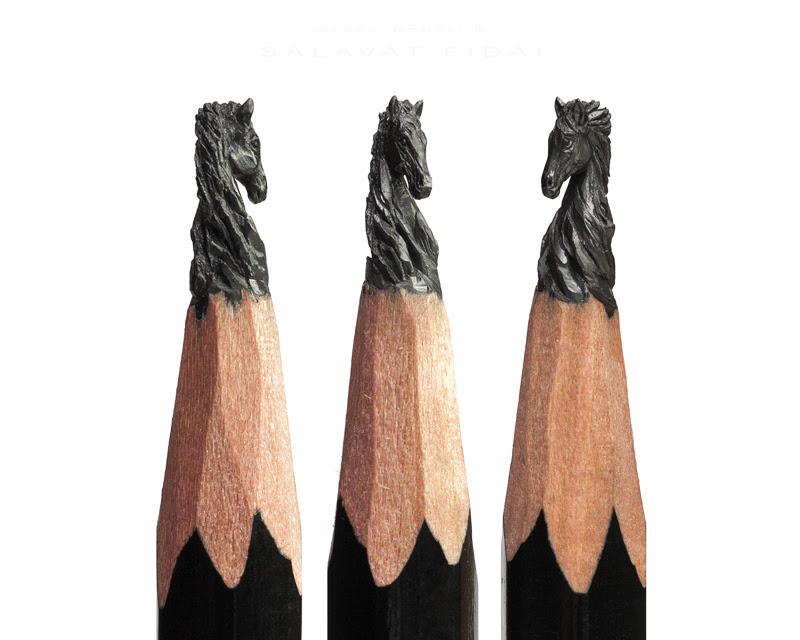 Micro Sculptures from Graphite by Salavat Fidai from Russia.