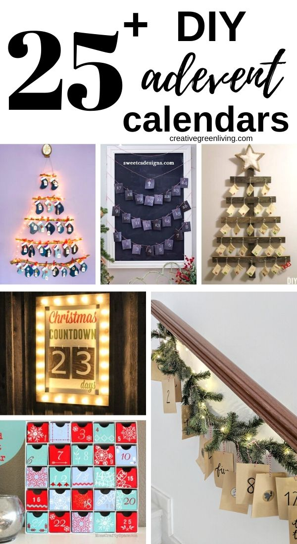 DIY advent calendar ideas! Lots of different ideas for advent celndar fillers, countdowns with bags, chains, calendars made from wood and more. This is such a fun Christmas activity to do with kids. Craft one yourself or get a free printable to help. #adventcalendar