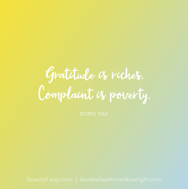 #The Sunday Quote #quotes #quote #good words #gratitude #Doris Day