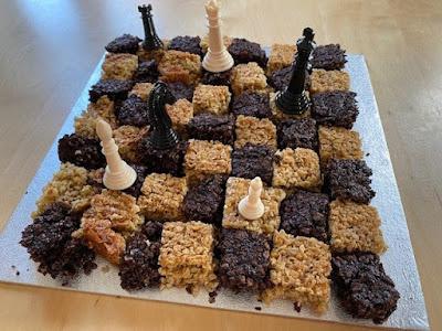 Harry Potter baking wizard chess flapjacks