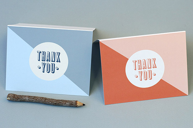Free, printable thank you cards How About Orange