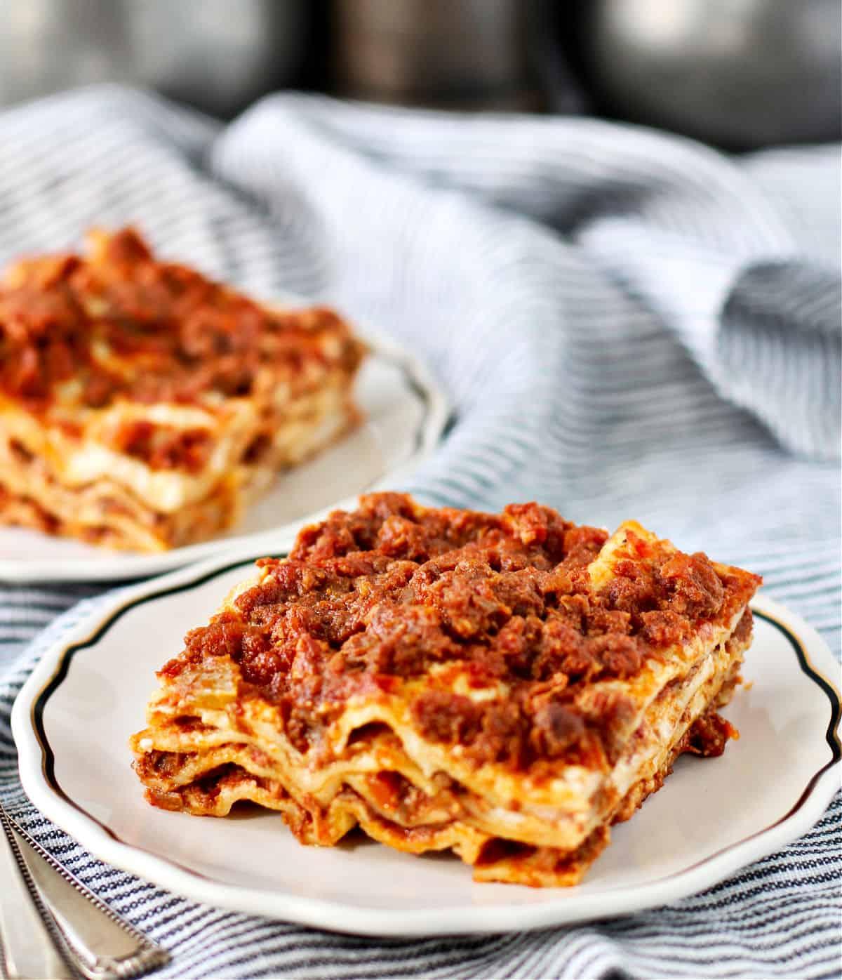 Lasagna Bolognese plates