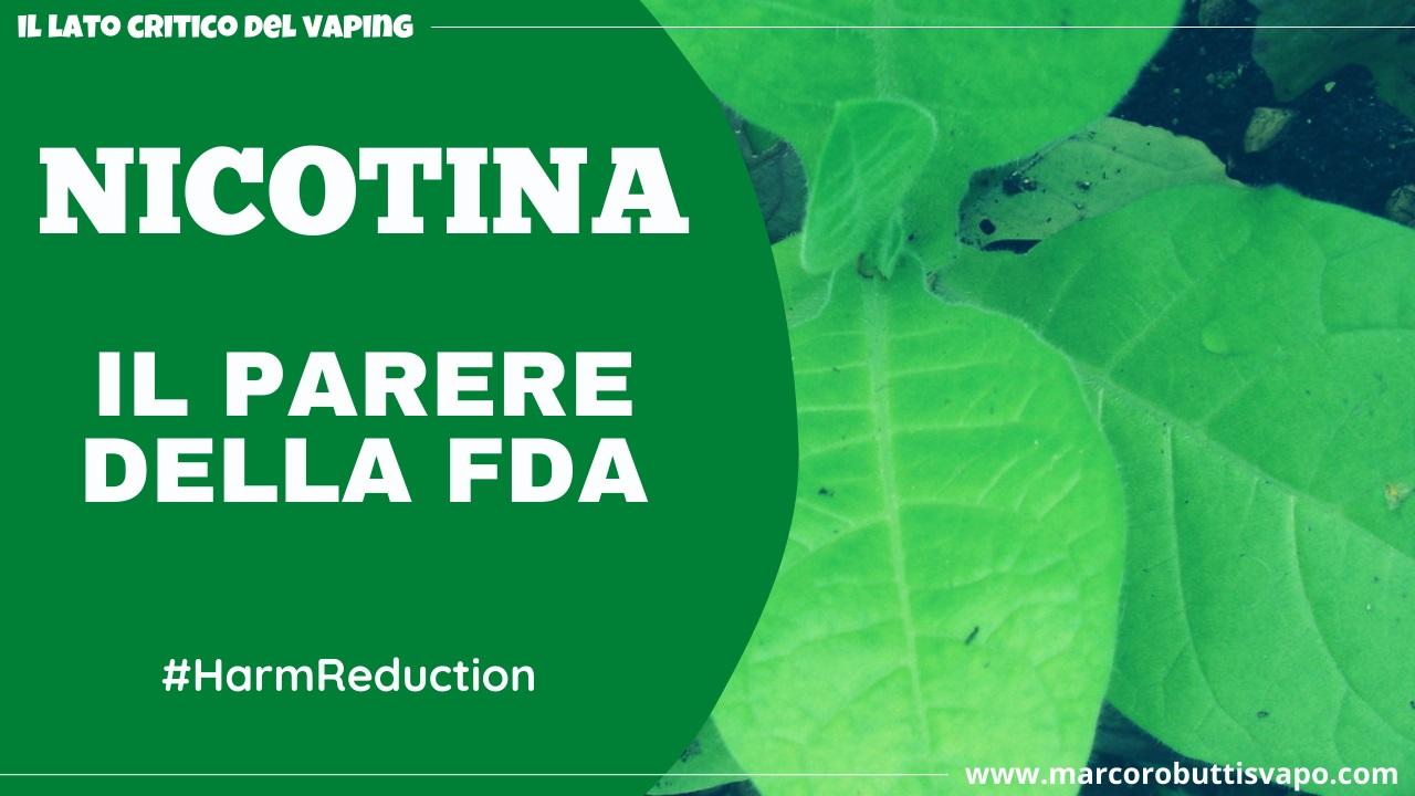 nicotina FDA