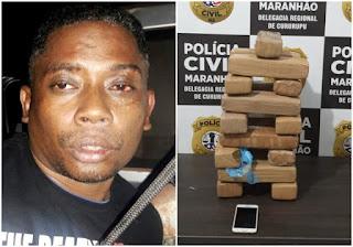 Assaltante que matou empresário e foi condenado a 38 anos de prisão no Pará é preso com 17 kg de maconha no Maranhão
