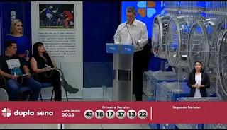 Resultado da Dupla Sena - Concurso nº 2033 - 04/01/2020
